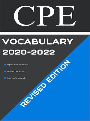 cover image of CPE Test Vocabulary 2020