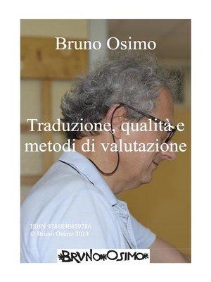 cover image of Traduzione e metodi di valutazione