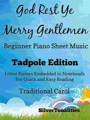 cover image of God Rest Ye Merry Gentlemen Beginner Piano Sheet Music Tadpole Edition