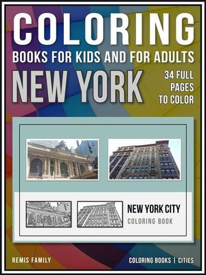 cover image of Coloring Books for Kids and for Adults--New York