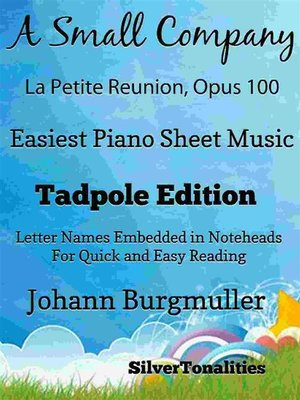 cover image of A Small Company La Petite Reunion Opus 100 Easiest Piano Sheet Music Tadpole Edition