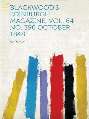 cover image of Blackwood's Edinburgh Magazine
