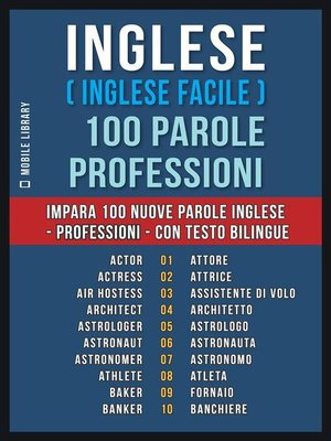 cover image of Inglese ( Inglese Facile ) 100 Parole--Professioni