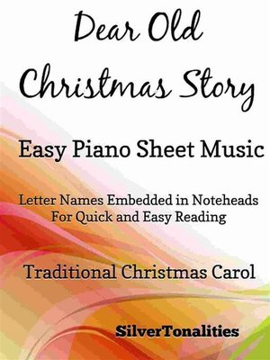 cover image of Dear Old Christmas Story Easy Piano Sheet Music
