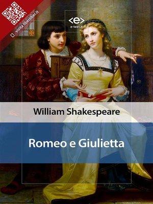 cover image of Romeo e Giulietta