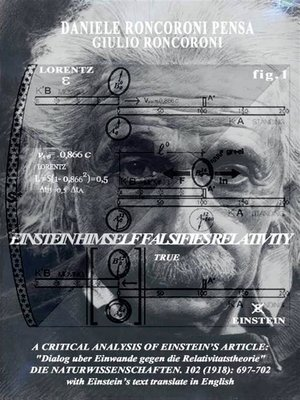 cover image of A critical analysis of einstein's article -