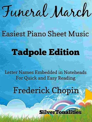 cover image of Funeral March Easiest Piano Sheet Music Tadpole Edition