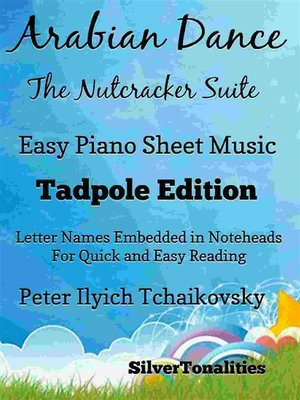 cover image of Arabian Dance the Nutcracker Suite Easy Piano Sheet Music