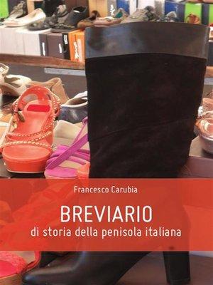 cover image of Breviario di storia della penisola italiana