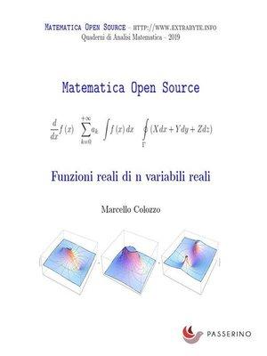 cover image of Funzioni reali di n variabili reali