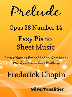 cover image of Preude Opus 28 Number 14 Easy Piano Sheet Music