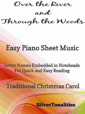 cover image of Over the River and Through the Woods Easy Piano Sheet Music