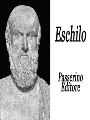 cover image of Eschilo