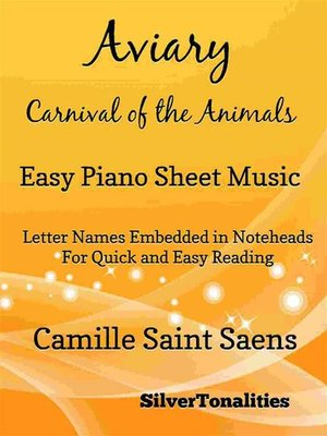 cover image of Aviary Carnival of the Animals Easy Piano Sheet Music