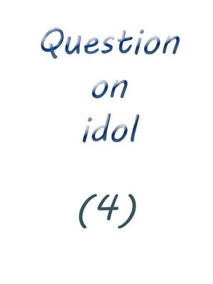 cover image of question on idol (4)