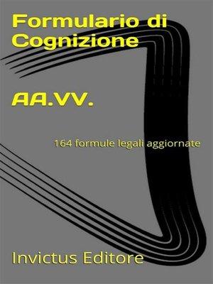 cover image of Formulario di cognizione