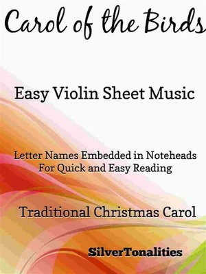cover image of Carol of the Birds Easy Violin Sheet Music