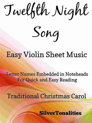 cover image of Twelfth Night Song Easy Violin Sheet Music