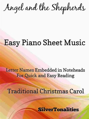 cover image of Angel and the Shepherds Easy Piano Sheet Music