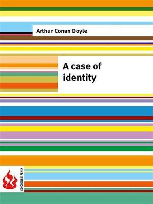 cover image of A case of identity (low cost). Limited edition