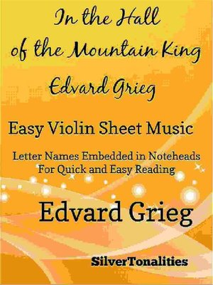 cover image of In the Hall of the Mountain King Easy Violin Sheet Music