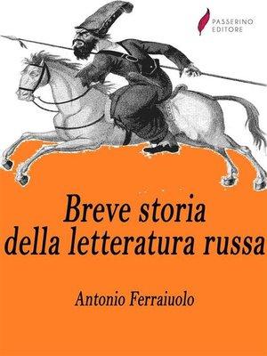 cover image of Breve storia della letteratura russa