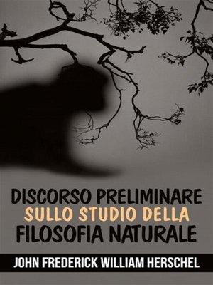 cover image of Discorso preliminare sullo studio della filosofia naturale