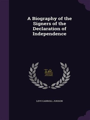 cover image of A Biography of the Signers of the Declaration of Independence, and of Washington
