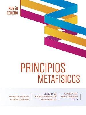 cover image of Principios Metafísicos