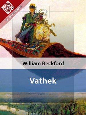 cover image of Vathek
