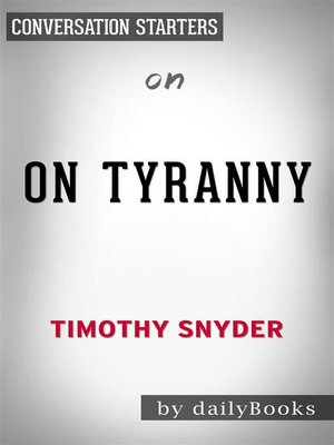 cover image of On Tyranny--by Timothy Snyder