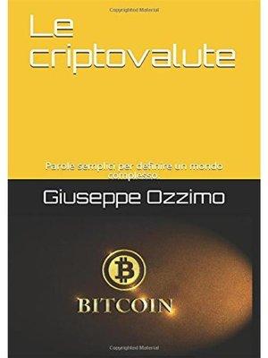 cover image of Le criptovalute