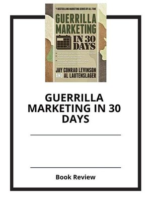 cover image of Guerrilla Marketing in 30 Days