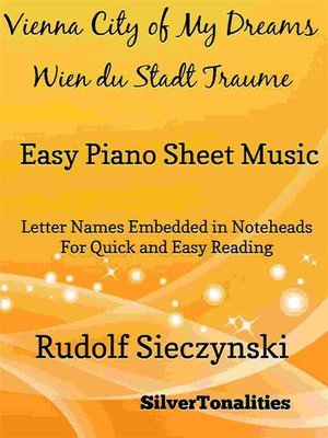 cover image of Vienna City of My Dreams Easy Piano Sheet Music