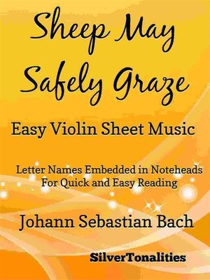 cover image of Sheep May Safely Graze Easy Violin Sheet Music