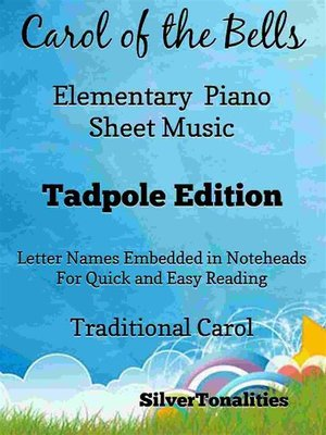 cover image of Carol of the Bells Elementary Piano Sheet Music Tadpole Edition
