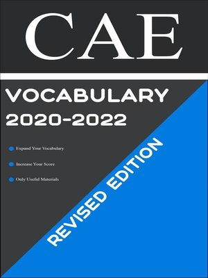 cover image of CAE Test Vocabulary 2020