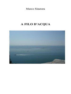 cover image of A filo d'acqua