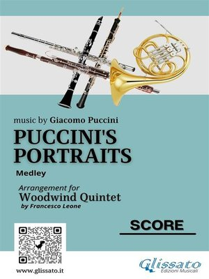 cover image of Puccini's Portraits--Woodwind Quintet score & parts