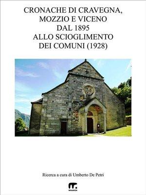 cover image of Cronache di Cravegna, Mozzio e Viceno