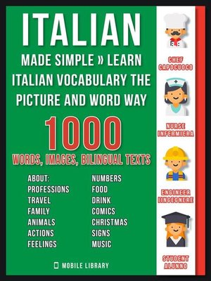 cover image of Italian Made Simple--Learn Italian Vocabulary the Picture and Word way