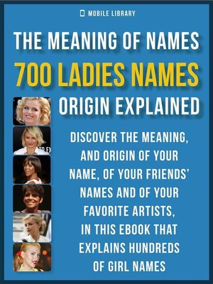 cover image of Meaning of Ladies Names