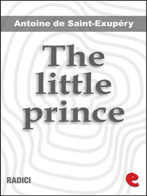 cover image of The Little Prince (illustrated bilingual book)