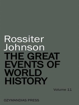 cover image of The Great Events of World History--Volume 11