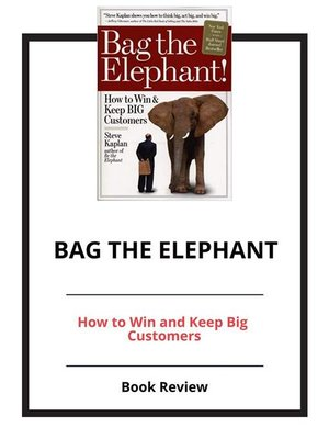 cover image of Bag the Elephant
