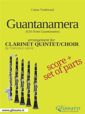 cover image of Guantanamera--Clarinet Quintet/Choir score & parts