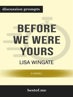"cover image of Summary--""Before We Were Yours--A Novel"" by Lisa Wingate 