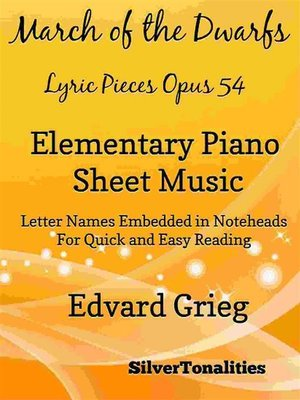 cover image of March of the Dwarfs Lyric Pieces Opus 54 Elementary Piano Sheet Music