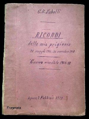 cover image of Ricordi della mia prigionia