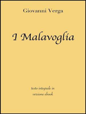 cover image of I Malavoglia di Giovanni Verga in ebook